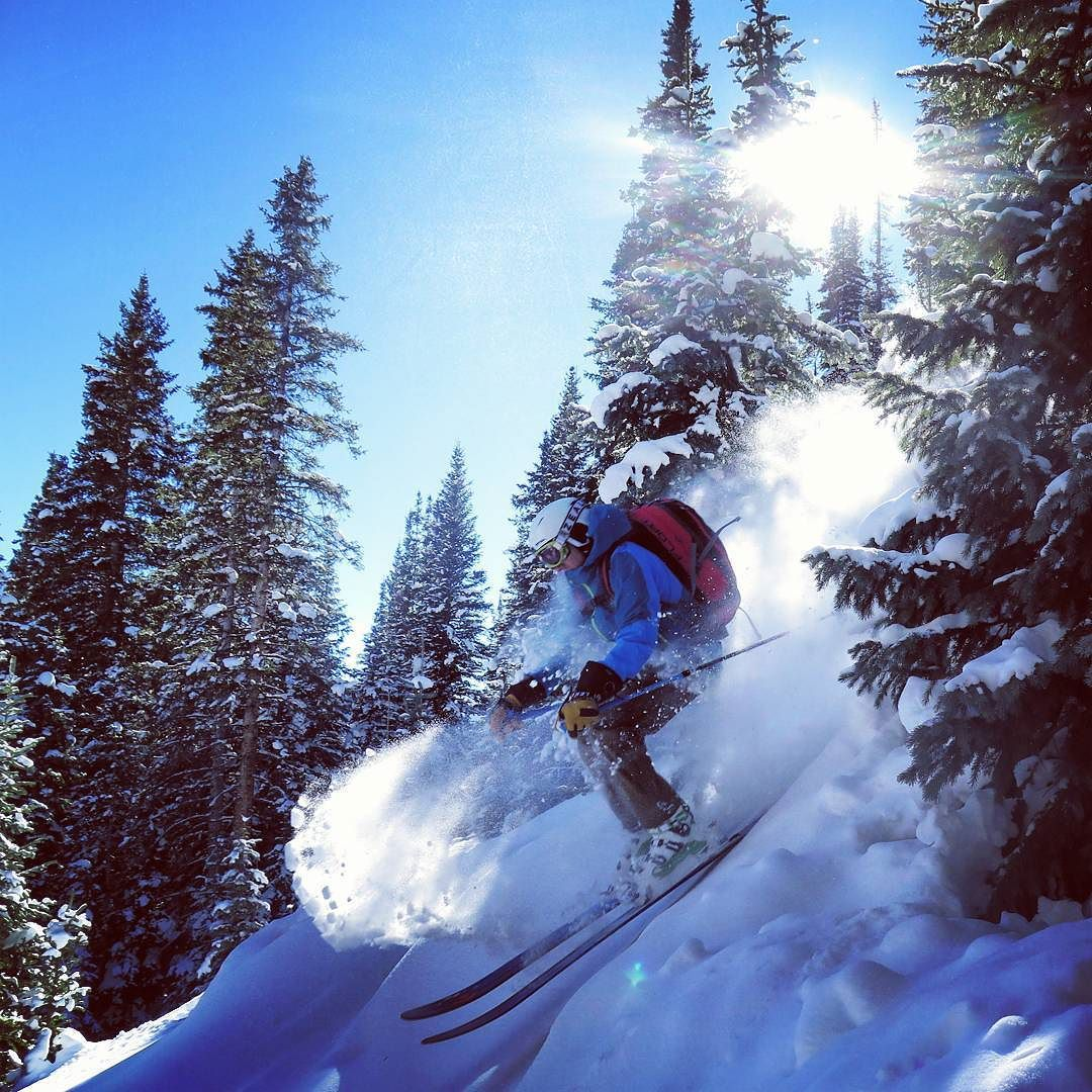 Hello 2016! Here Frank busts through ka-tree-pow to find milky goodness on the other side. Found good conditions Red Mountain Pass today!  #14erskiers #ski #skiing #iskicolorado #skicolorado #bcskicolorado #powder #silverton @lekiusa @blackdiamond @patagonia @girosnow @intuitionliners #hshive #honeystinger #liveskirepeat