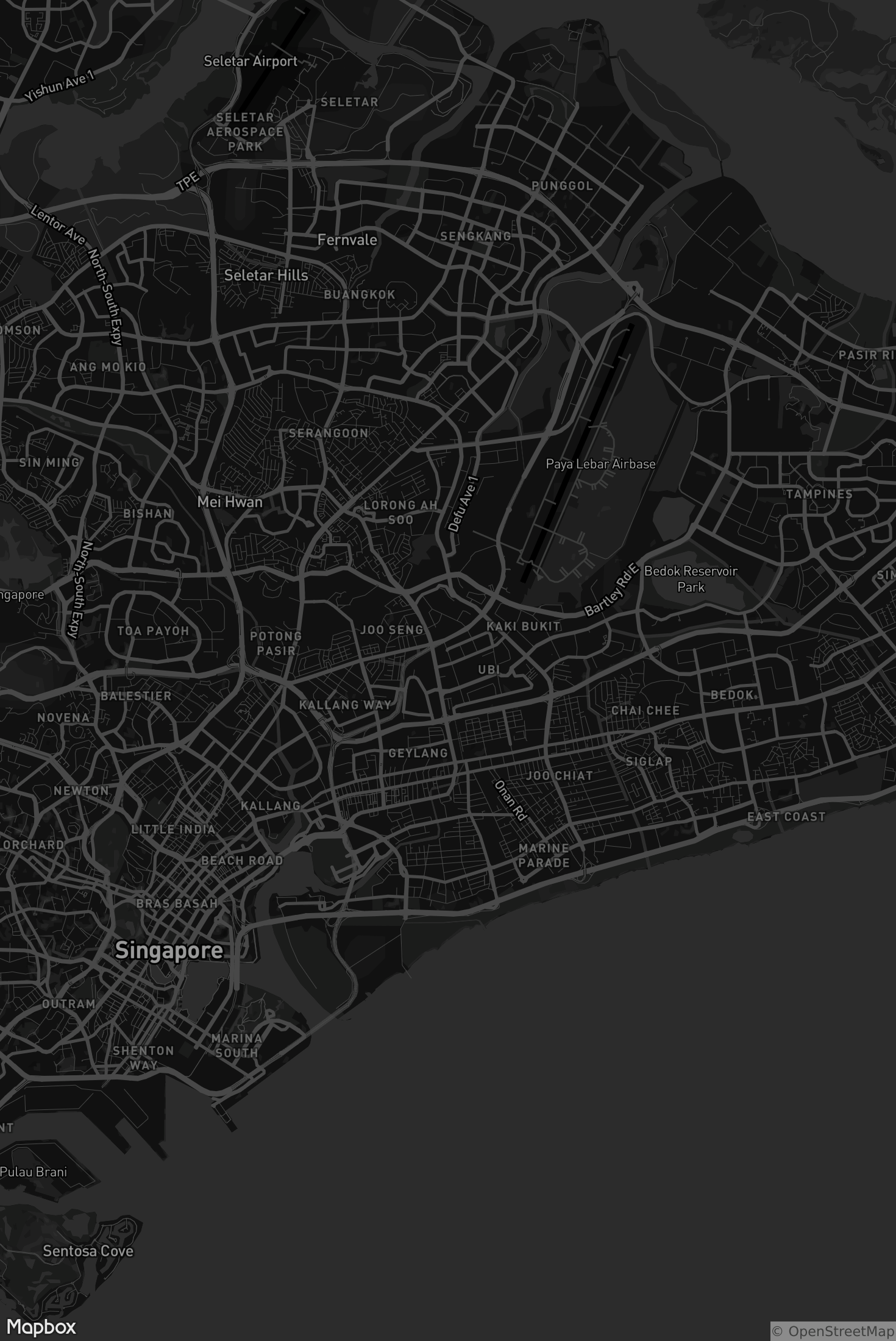 Mapbox Dark by the Mapbox Cartography team - Designed to be an