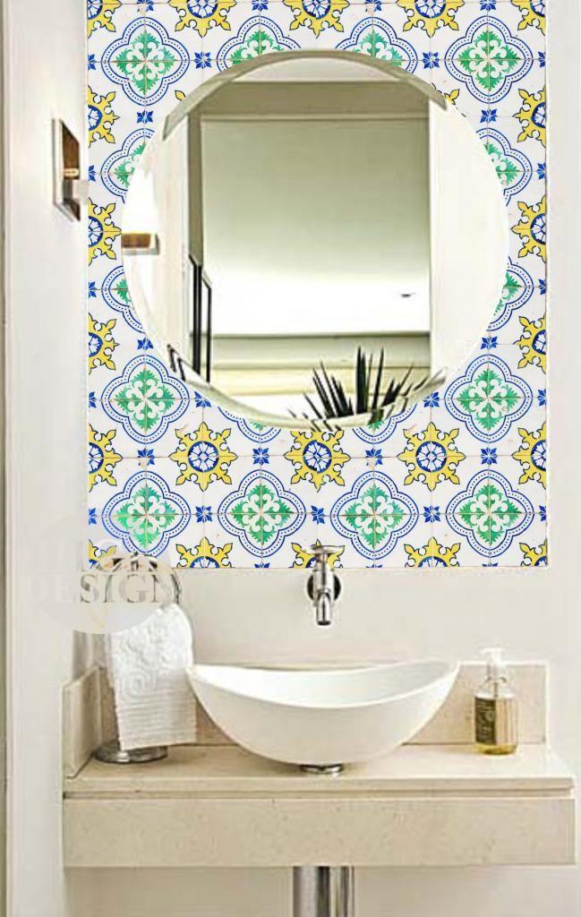 Adesivo Estampado Banheiro Pesquisa Google Banheiro Ladrilho