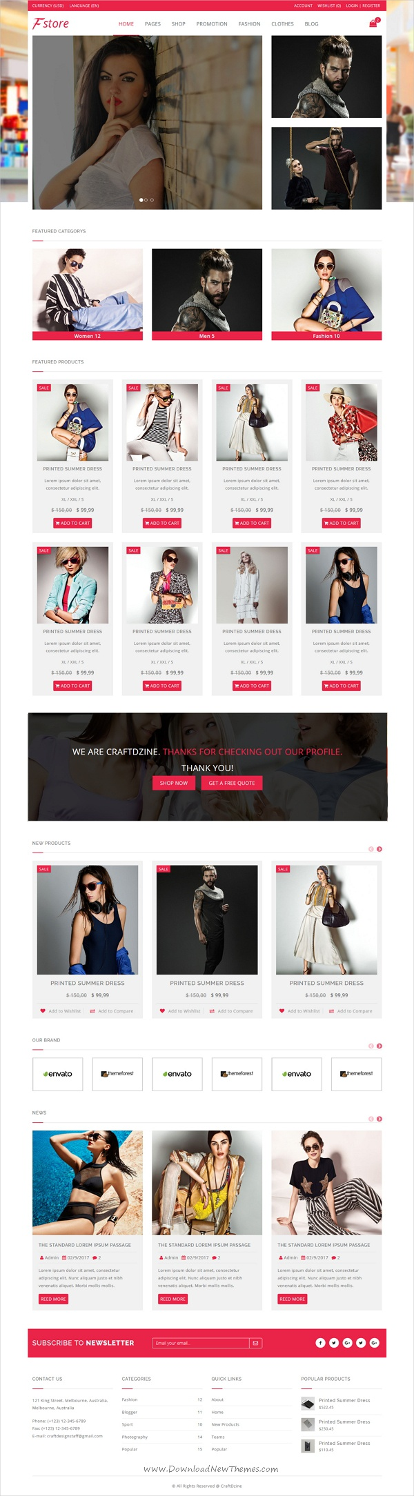 Fstore Bootstrap Html5 Ecommerce Template Ecommerce Template And