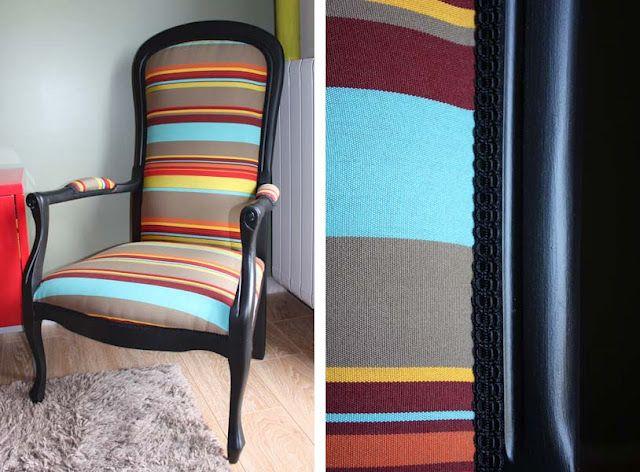 diy recouvrir un vieux fauteuil voltaire with recouvrir bureau. Black Bedroom Furniture Sets. Home Design Ideas