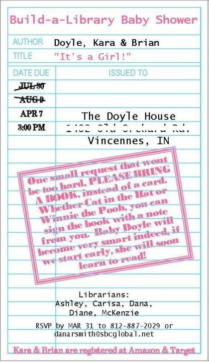 Build a library baby shower invitation my designs pinterest build a library baby shower invitation filmwisefo
