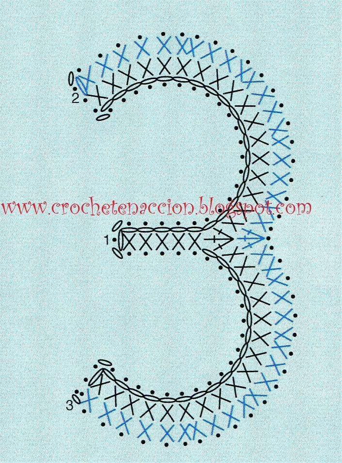 Letras y números CROCHET | Ganchillo - Crochet | Pinterest | Es ...