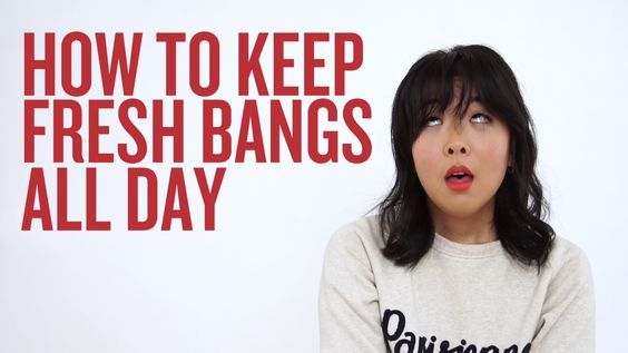 How to Keep Bangs Fresh All Day