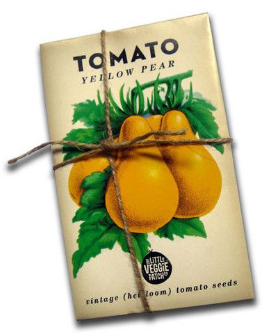 Heirloom Tomato Seed Packaging via Little Veggie Patch Co