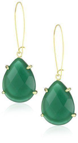 "Kendra Scott ""Signature"" Allison Green Onyx Drop-Earrings Kendra Scott. $65.00. Made in CN"