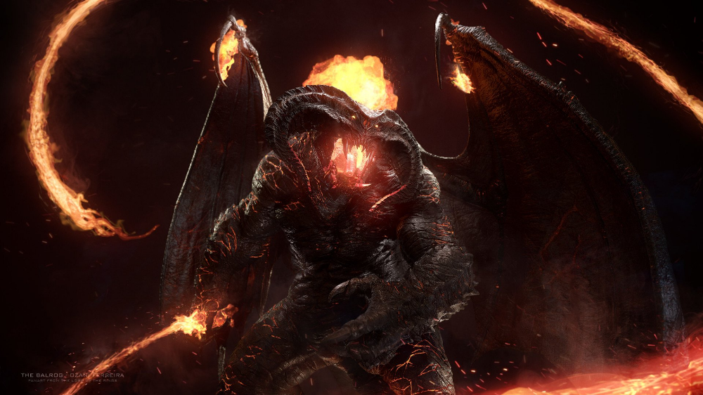 Balrog Durin S Bane Fantasy Lord Of The Rings The Lord Of The Rings Balrog Lord Of The Rings Wallpaper Balrog Background Images Wallpaper Backgrounds