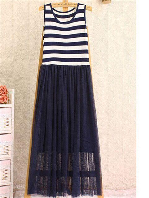 FIVE PANDA 2016 New Style Maxi Long Dress Women Fashion Casual Sleeveless Gauze dress Vintage Party Vestidos Ladies ZMF9856327