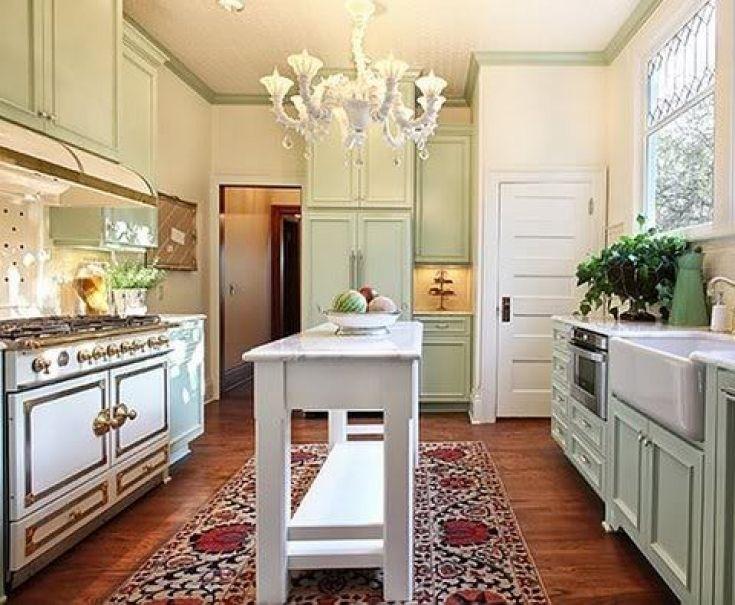 Cozy Slim Kitchen Island (With images) | Narrow kitchen ...