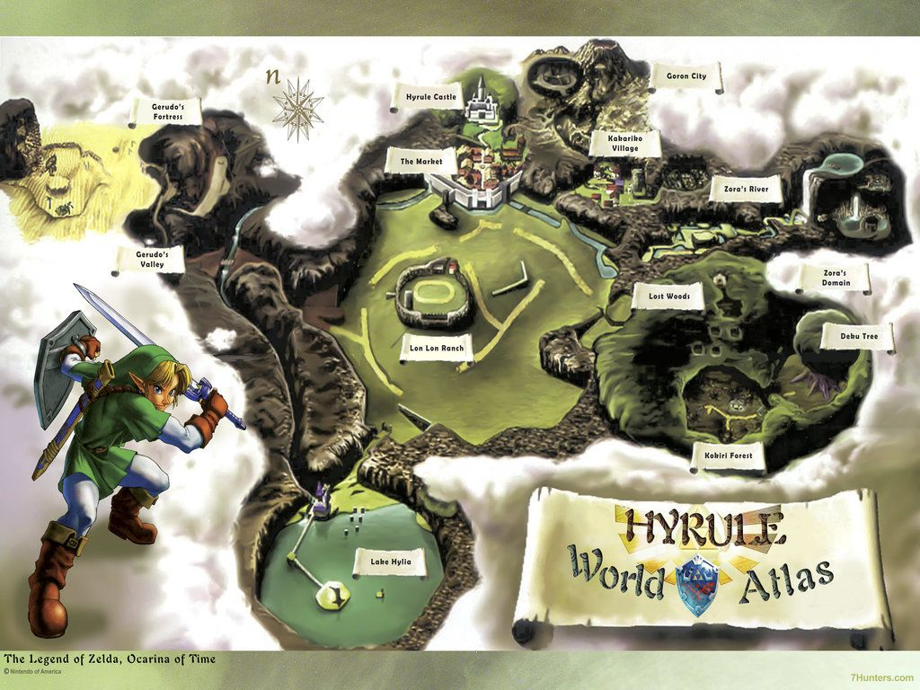 Large free download poster map of ocarina in time legend of zelda large free download poster map of ocarina in time legend of zelda by 7hunters gumiabroncs Image collections