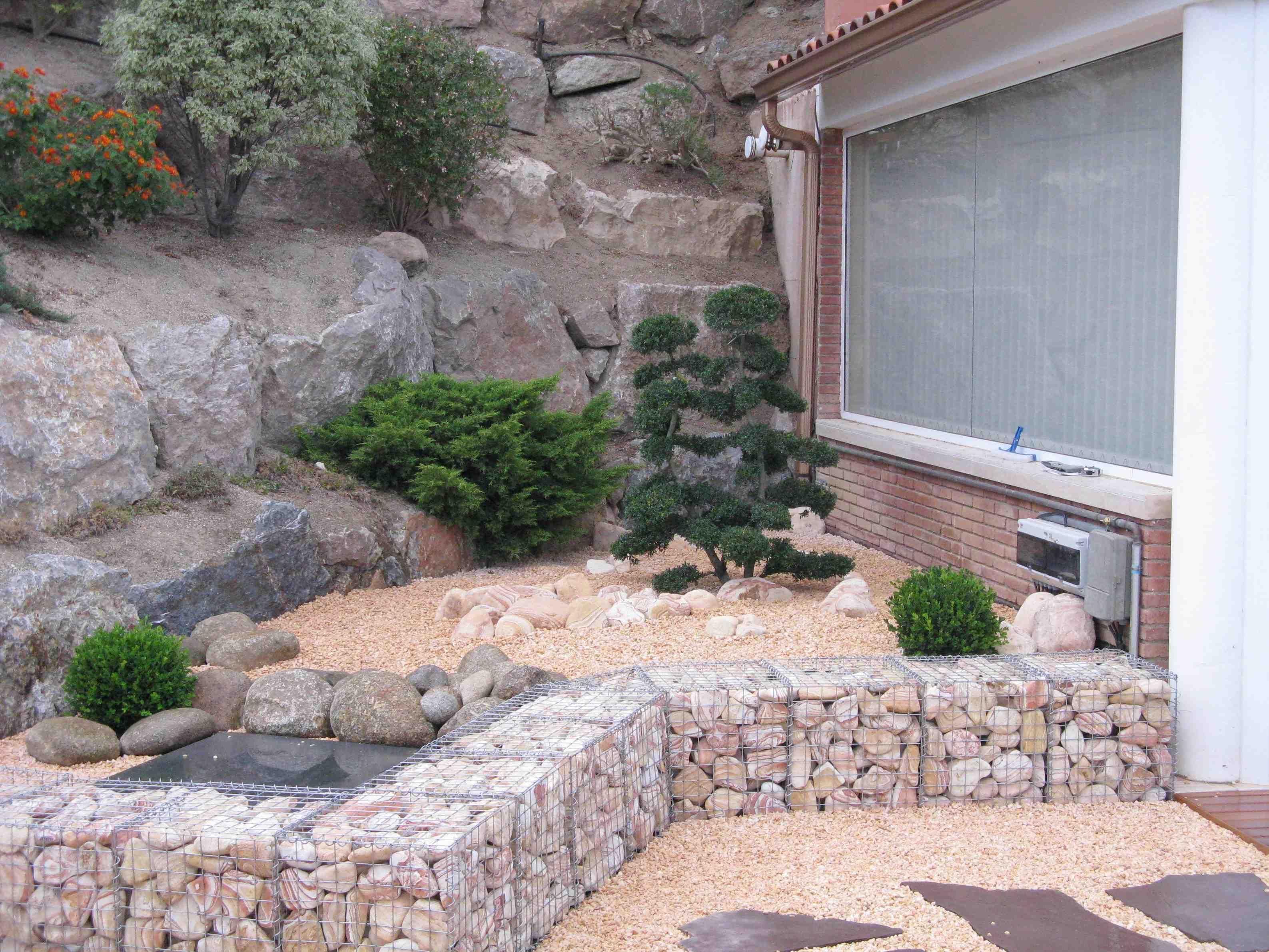 gaviones electrosoldados en proyecto de jardiner a