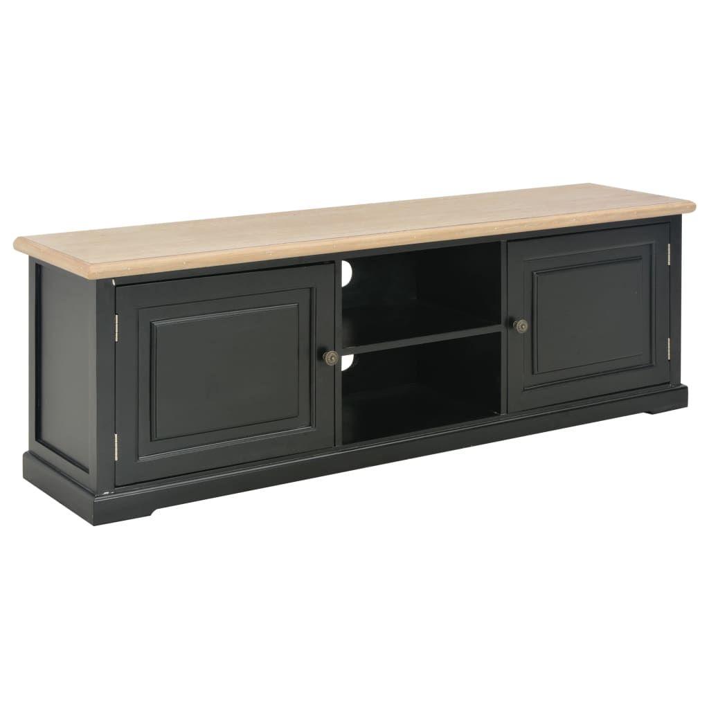 vidaXL TV Cabinet Black 120x30x40 cm Wood