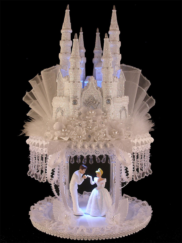 Cinderella castle royal wedding cake topper by