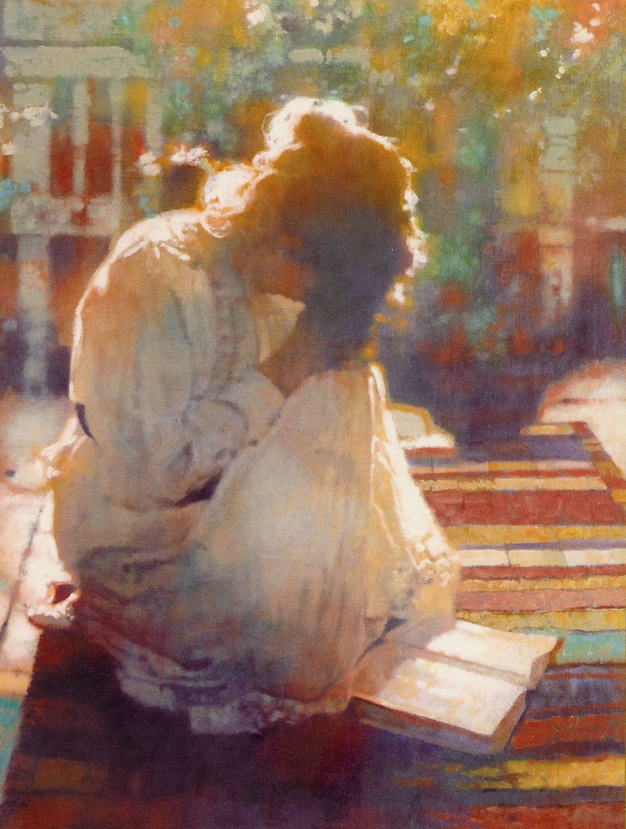 Image result for painting of a woman praying