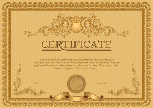 Image Result For Template Certificate  Ebl Care Home Office