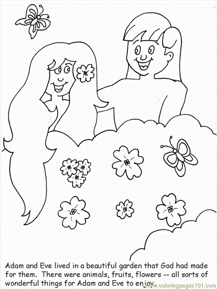 Adam And Eve Coloring Pages Printable | Creation coloring ...