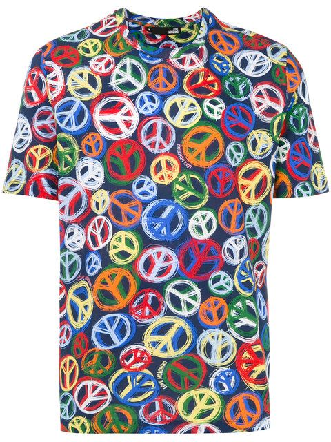 a8fe5bbc2 LOVE MOSCHINO Peace And Love T-Shirt. #lovemoschino #cloth #t-shirt ...