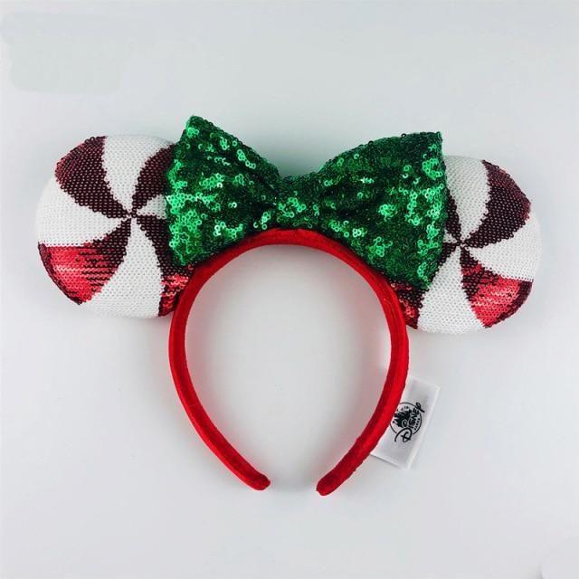 Photo of Disney Headband Minnie Ears For Women Mermaid Ariel Headdress Cartoon Anime Disneyland Mickey Mouse Bow Sequins Hair Hoop – Z
