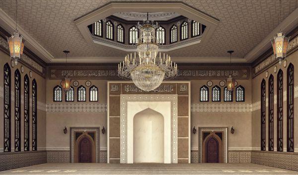 El Damam West Mosque Interior Design On Behance