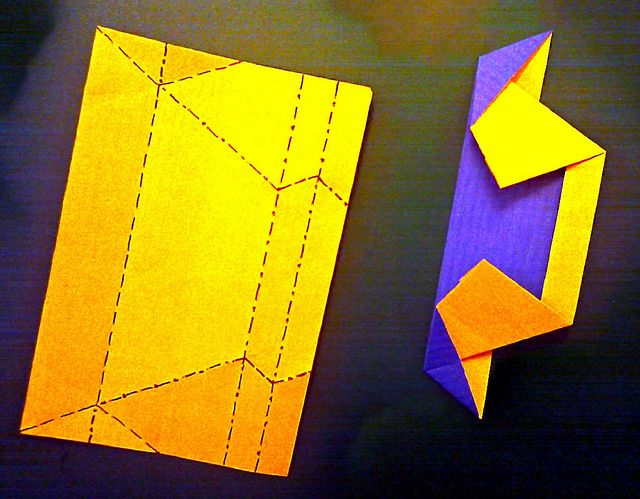 The missing Crease Pattern and the module itself   Flickr – Compartilhamento de fotos!