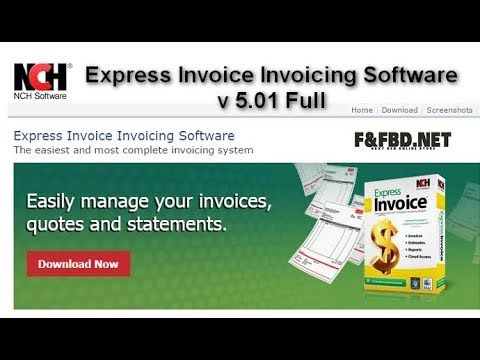 Express Invoice Invoicing Software V Full SOFTWARE - Nch invoice software