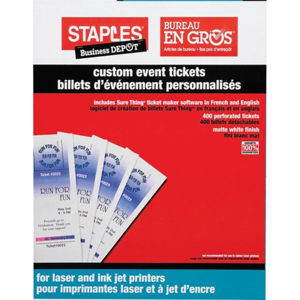Staples® Custom Event Tickets Staples stag and doe Pinterest - event ticket maker