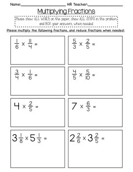 5th grade Multiplying Fraction Quiz in 2019 | Products ...