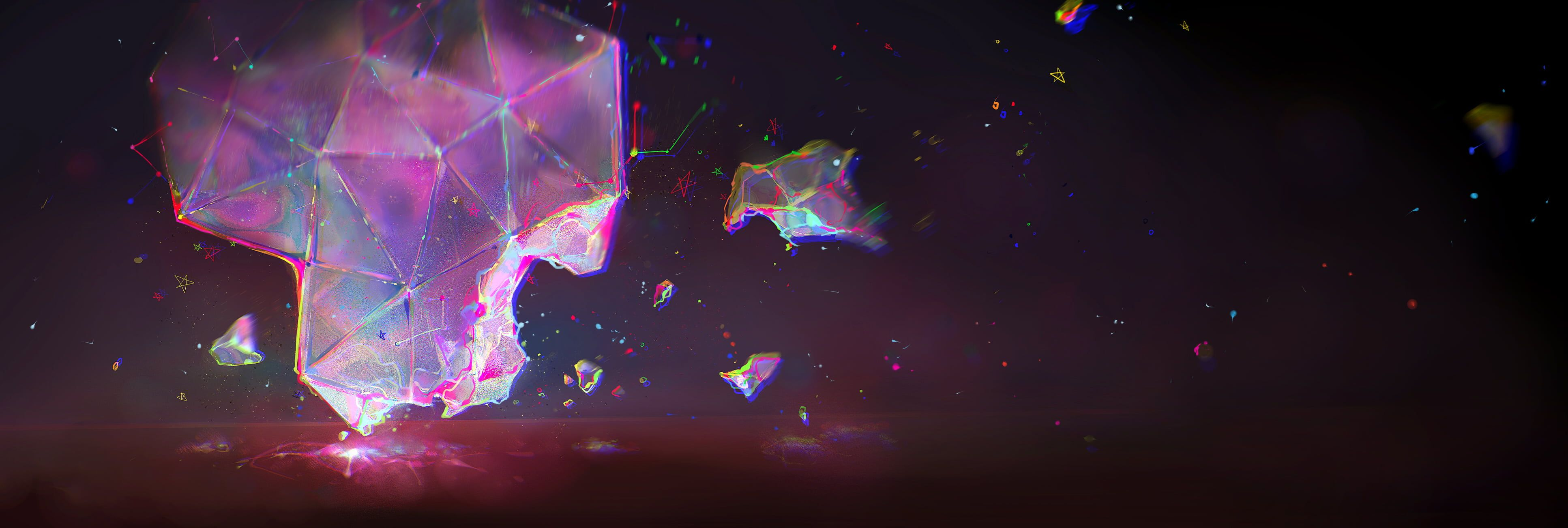 Bismuth Gemstone Digital Art Abstract Rgb Triangle Geometry Stars Minimalism 4k Wallpaper Hdwallpa In 2020 Desktop Wallpaper Abstract Black And Blue Wallpaper
