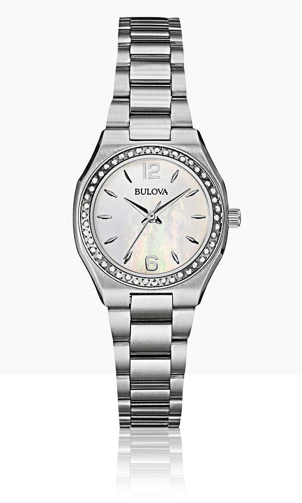 Bulova Diamond 96R199 #Bulova #Diamonds