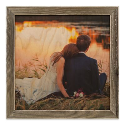 Designs Direct 12 Square Framed Wood Print With 1 Frame Brown Wood Print Wall Art Designs Design