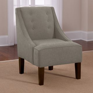 overstock - this swoop chair displays unassuming style with simple