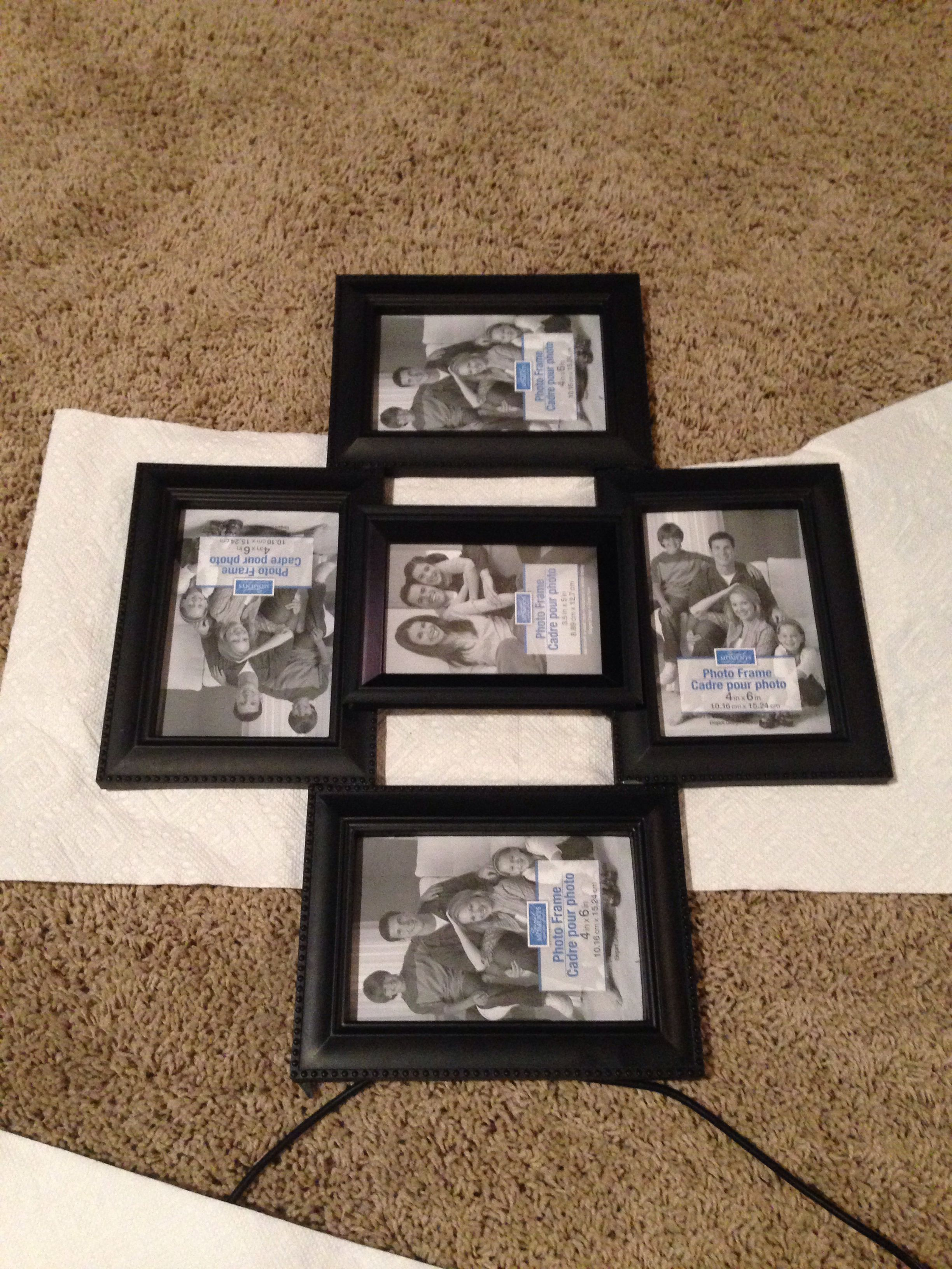 Montage Photo Cadre Multiple Diy Collage Frame Get Dollar Store Frames And Hot Glue Them