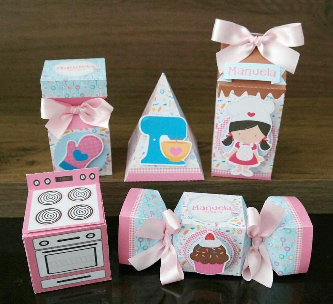 kit cajitas fiesta infantil, candybar o mesa de dulces