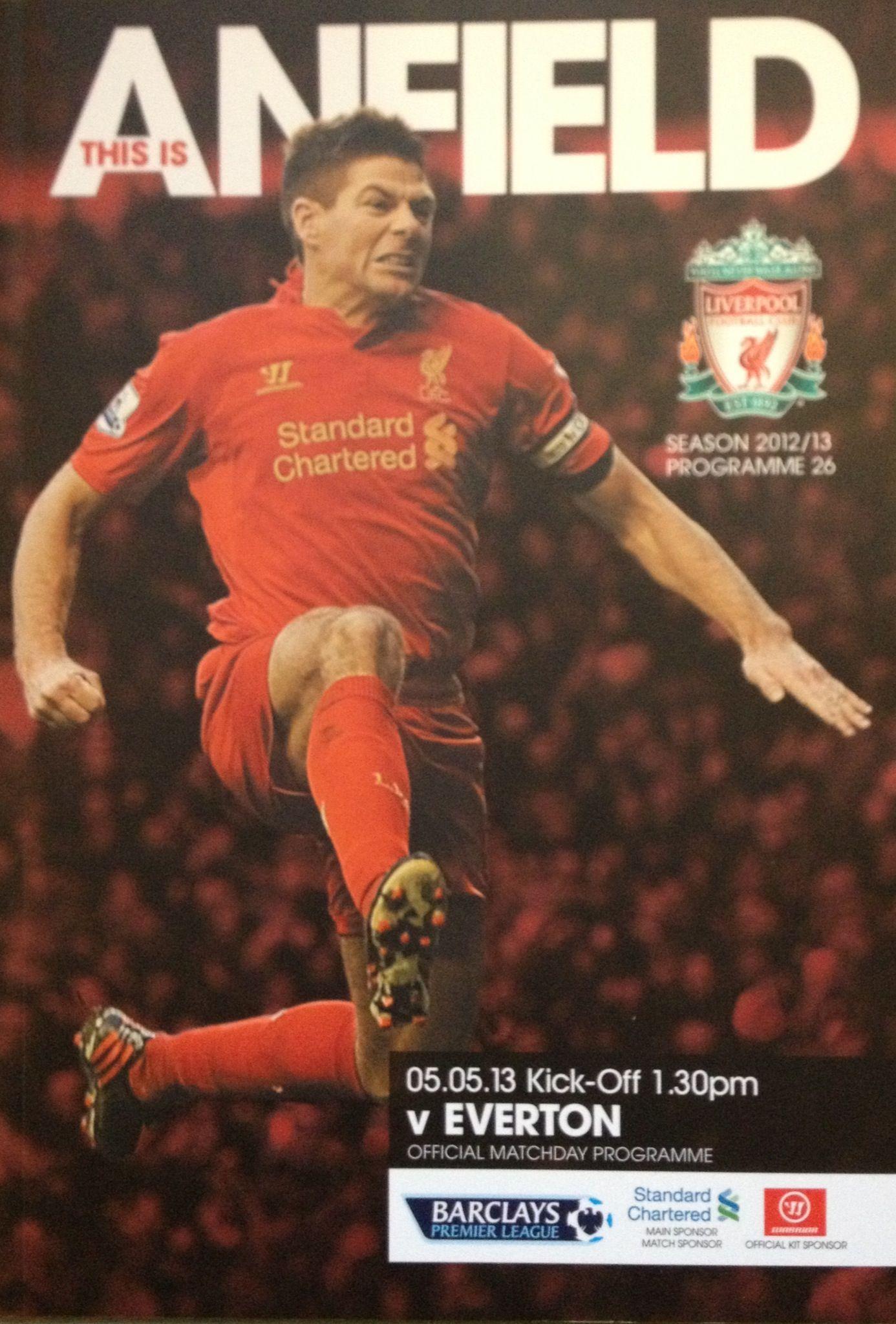 5/5/2013 Liverpool v Everton Football program, Liverpool