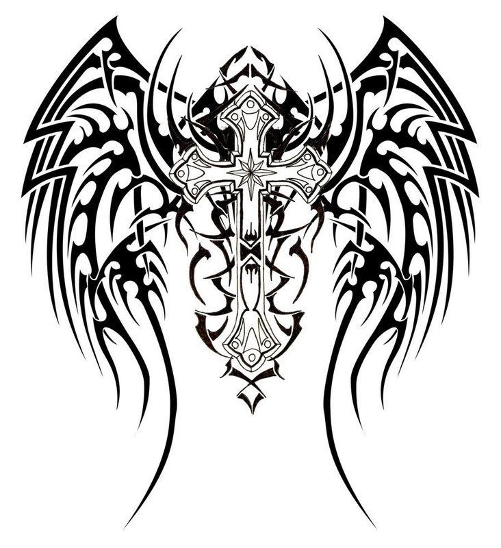 tattoo trends dessin tatouage tribal croix pour homme. Black Bedroom Furniture Sets. Home Design Ideas