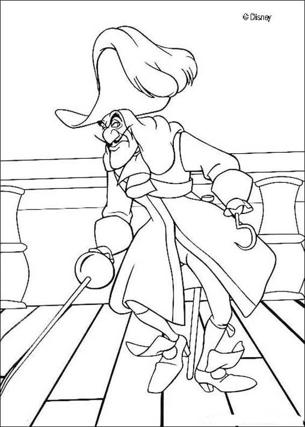 Captain Hook And Other Peter Pan Colouring Pages Are Always A Hit