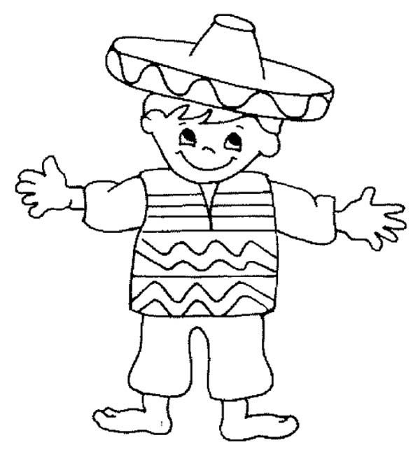 Coloring Mexican Child