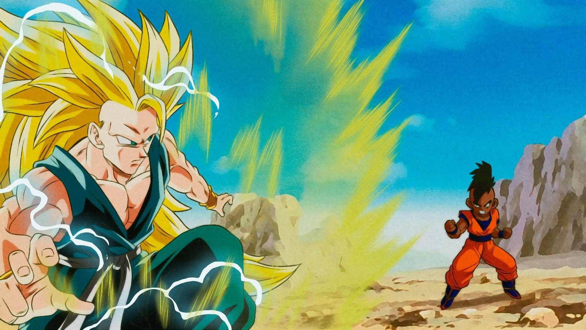 Super Saiyan 3 Goku Vs Uub Goku Ssj 3 Goku Vs Dragon Ball Z