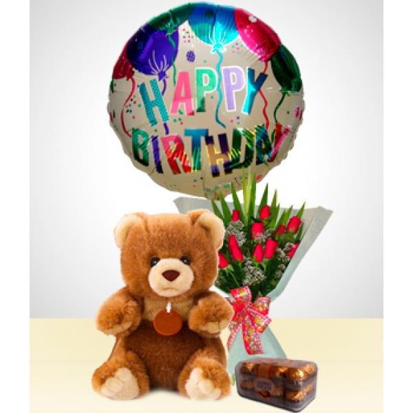 A Cute Detail To Express All Your Love And Affection Contains An Elegant Bouquet Of Twelve Red Roses 1 Ted Online Flower Shop Online Flower Delivery Send Flowers Online