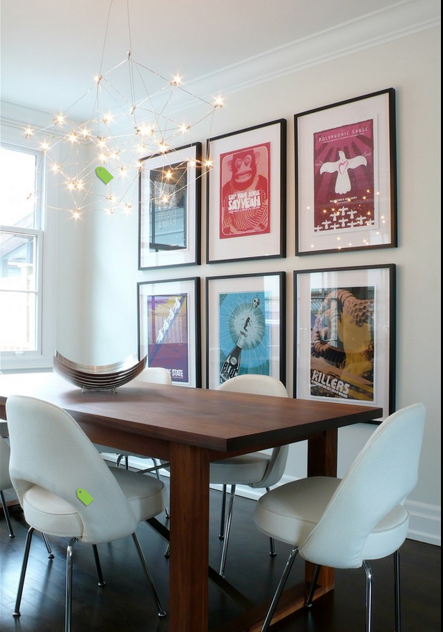 Modern Dining Room With Framed Art Dining Room Contemporary