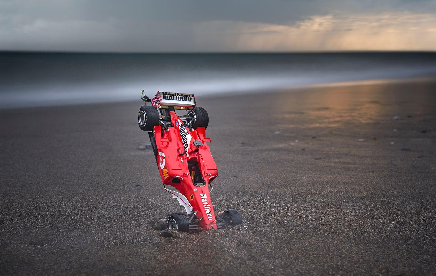 Ferrari con gaviota