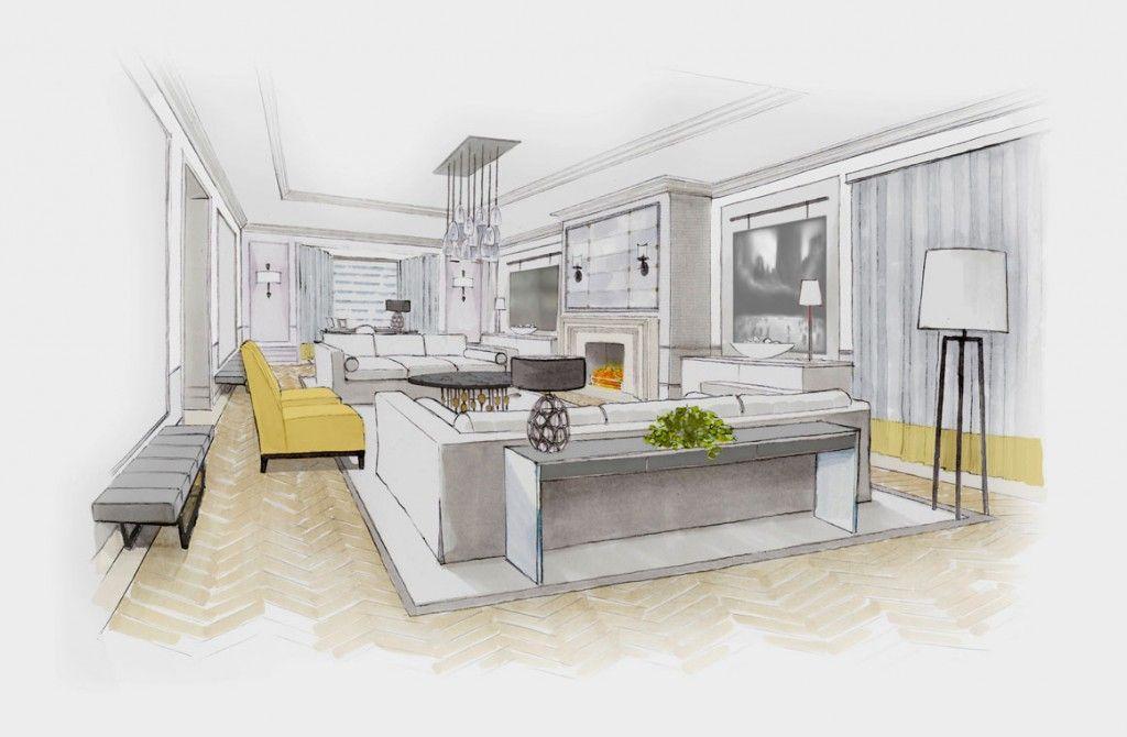 Innenarchitektur skizze wohnzimmer  Jannine Stone Interior Design | Interior Design | Pinterest ...