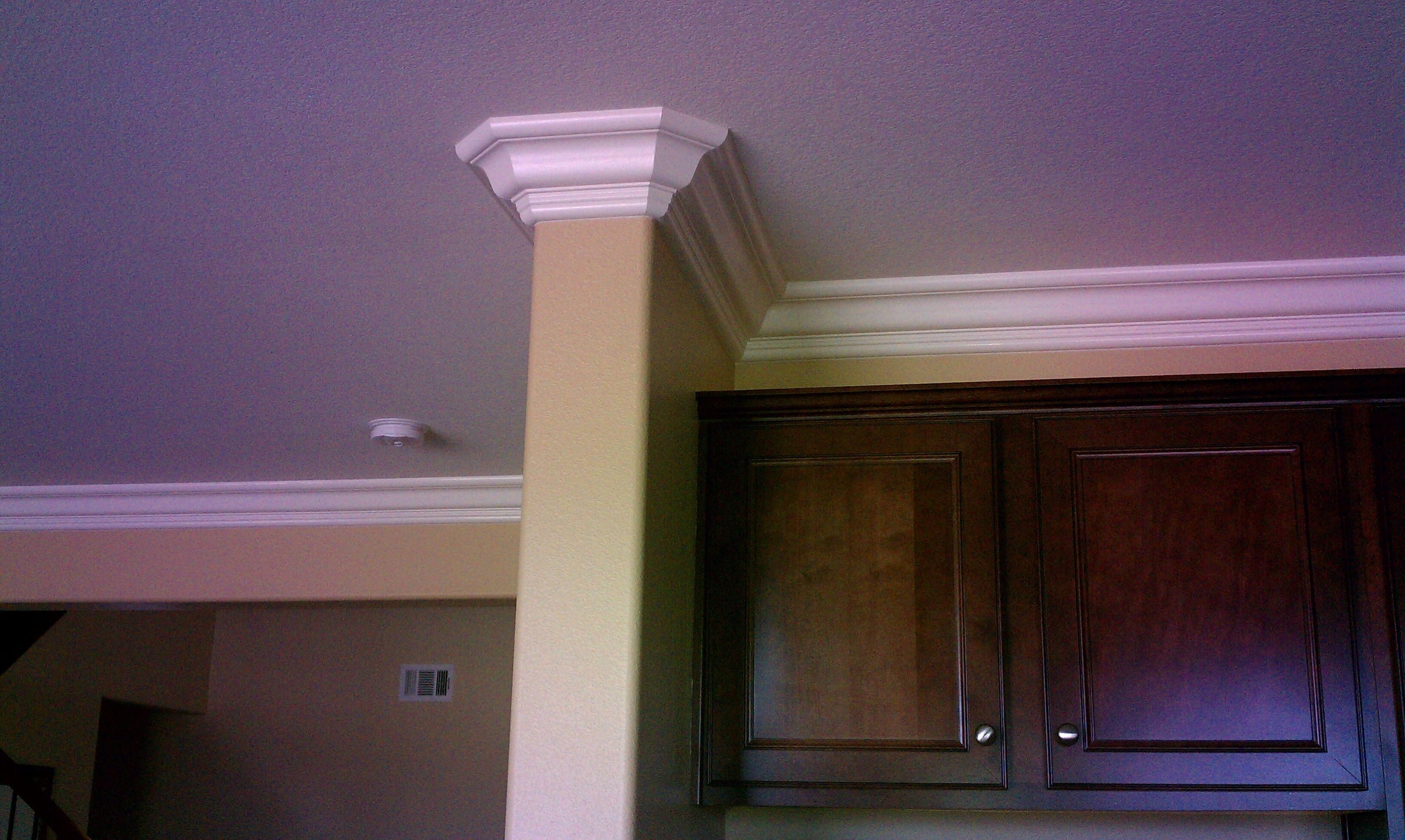 How to cut base molding around wall vent - This Is A 6 Crown Molding Wrapping Around A Wall And Heading Into A Kitchen