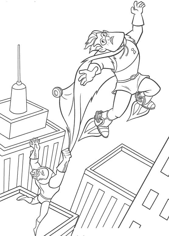 Pictures Funny Syndrome And Mr Incredibles Coloring Pages
