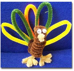 Thanksgiving crafts with pipe cleaners thanksgiving for Pipe cleaner turkey craft