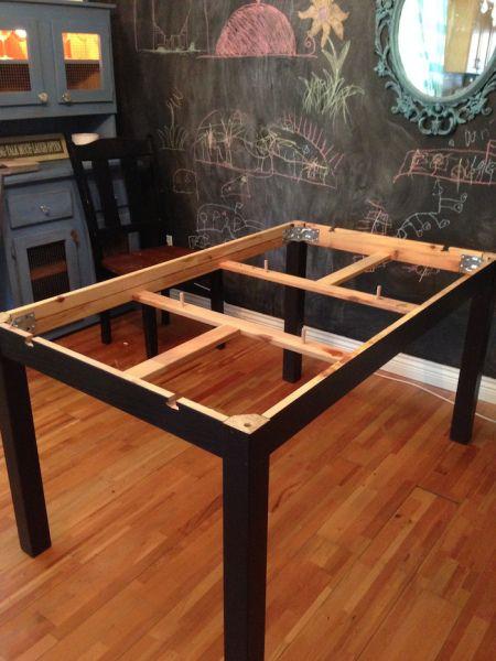 Ikea hacks bjursta table diy home pinterest ikea for Ikea farmhouse table hack