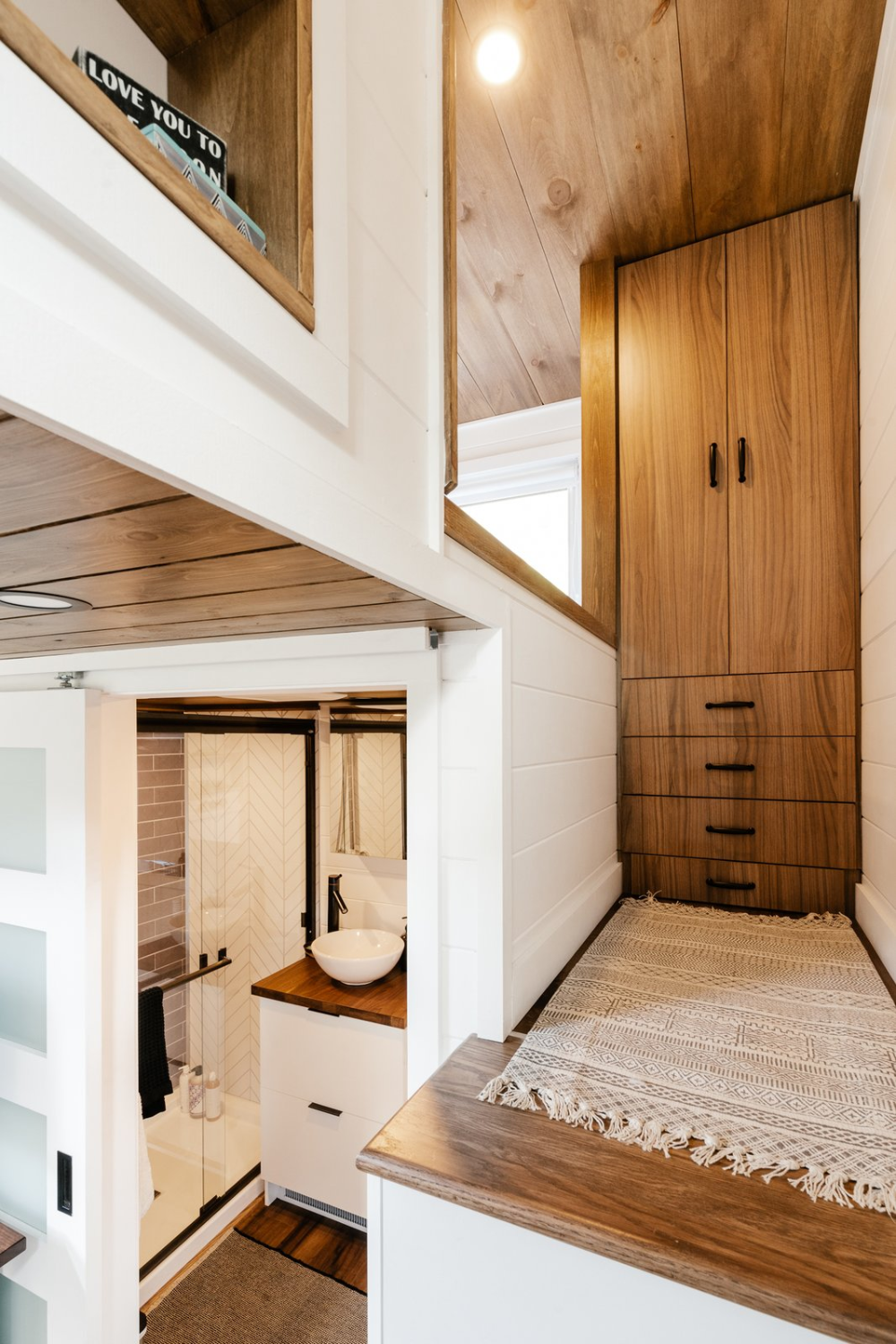 Photo 10 Of 11 In A Photographer S 331 Square Foot Tiny Home Makes In 2020 Dream House Rooms Tiny House Living Farm House Living Room