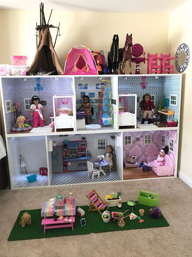 DIY Dollhouse for an 18 Inch Doll - Fenced in Momma