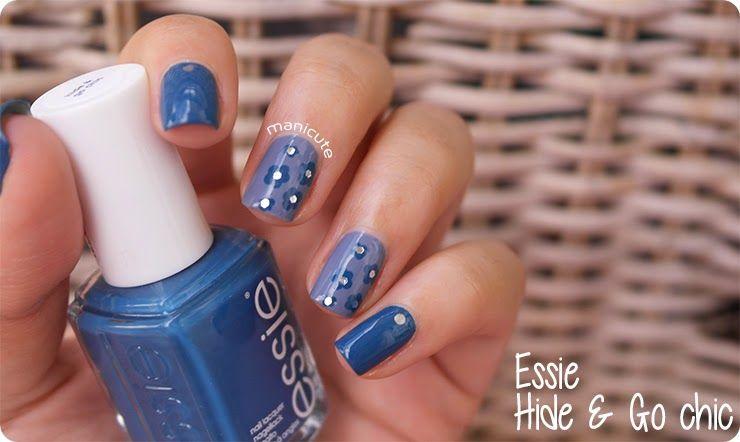Tutorial flores azules | Nail art sencillo | Cuidar de tu belleza es facilisimo.com