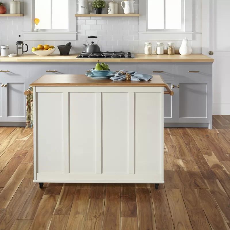 Hamilton Kitchen Island With Wood Top In 2020 Kitchen Kitchen